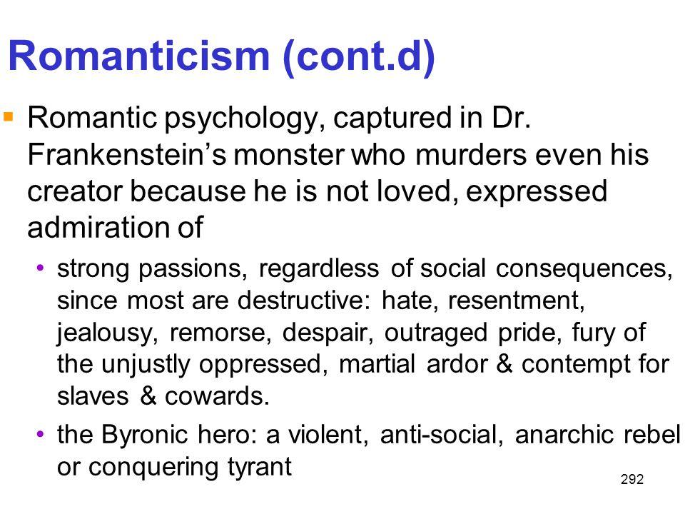 Romanticism (cont.d)