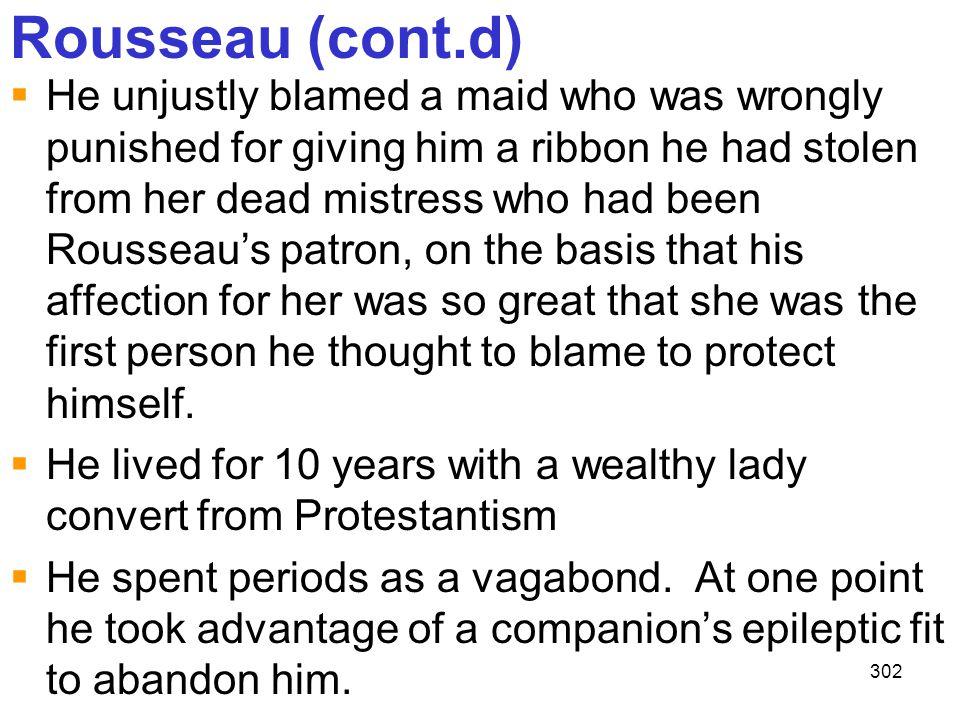Rousseau (cont.d)