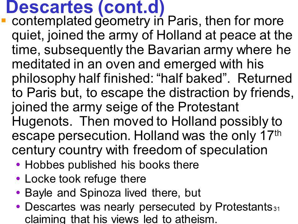 Descartes (cont.d)