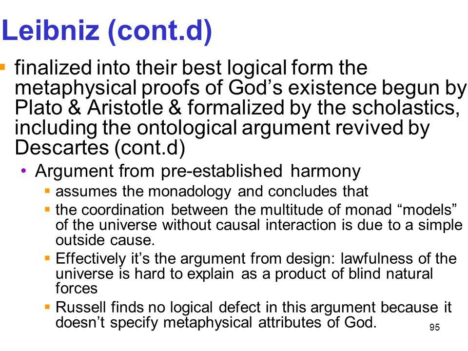 Leibniz (cont.d)
