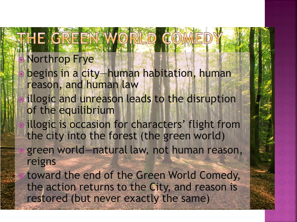 The green world comedy Northrop Frye