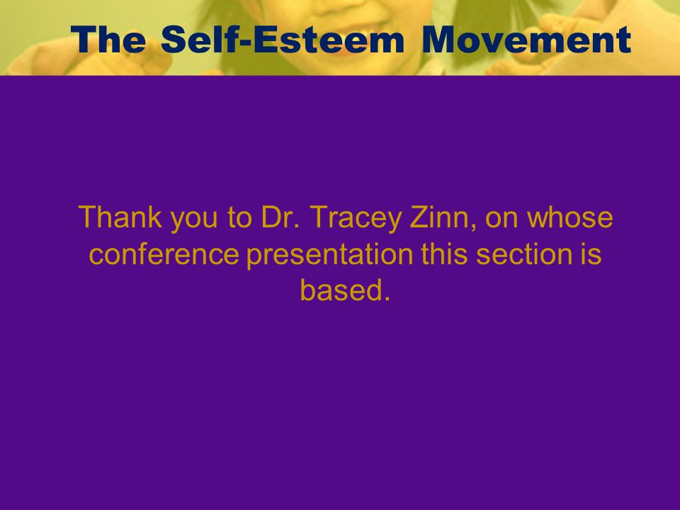 The Self-Esteem Movement