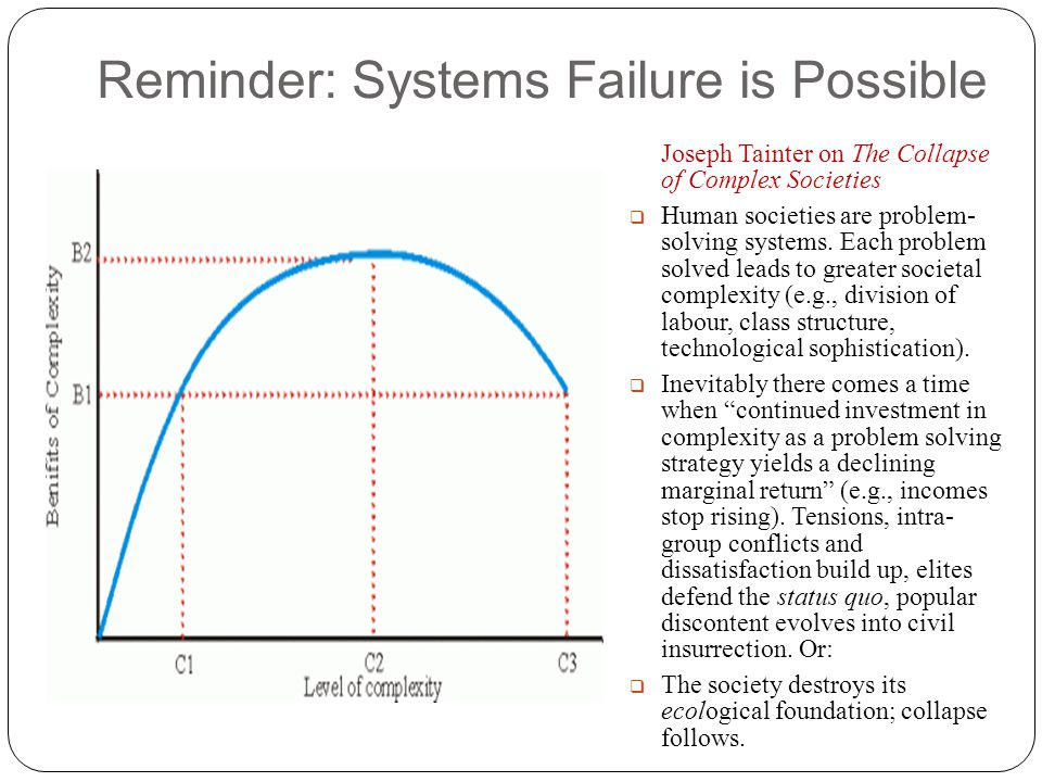 Reminder: Systems Failure is Possible