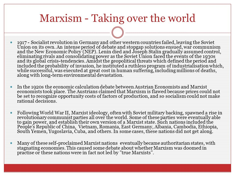 Marxism - Taking over the world