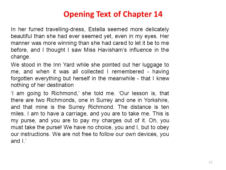 Opening Text of Chapter 14
