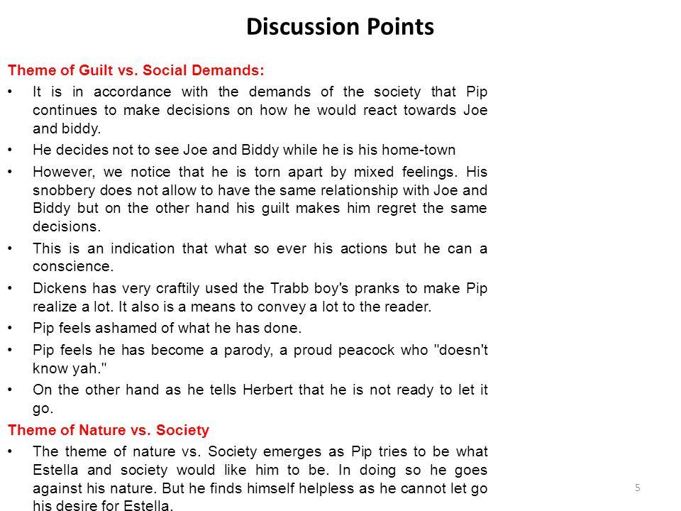 Discussion Points Theme of Guilt vs. Social Demands: