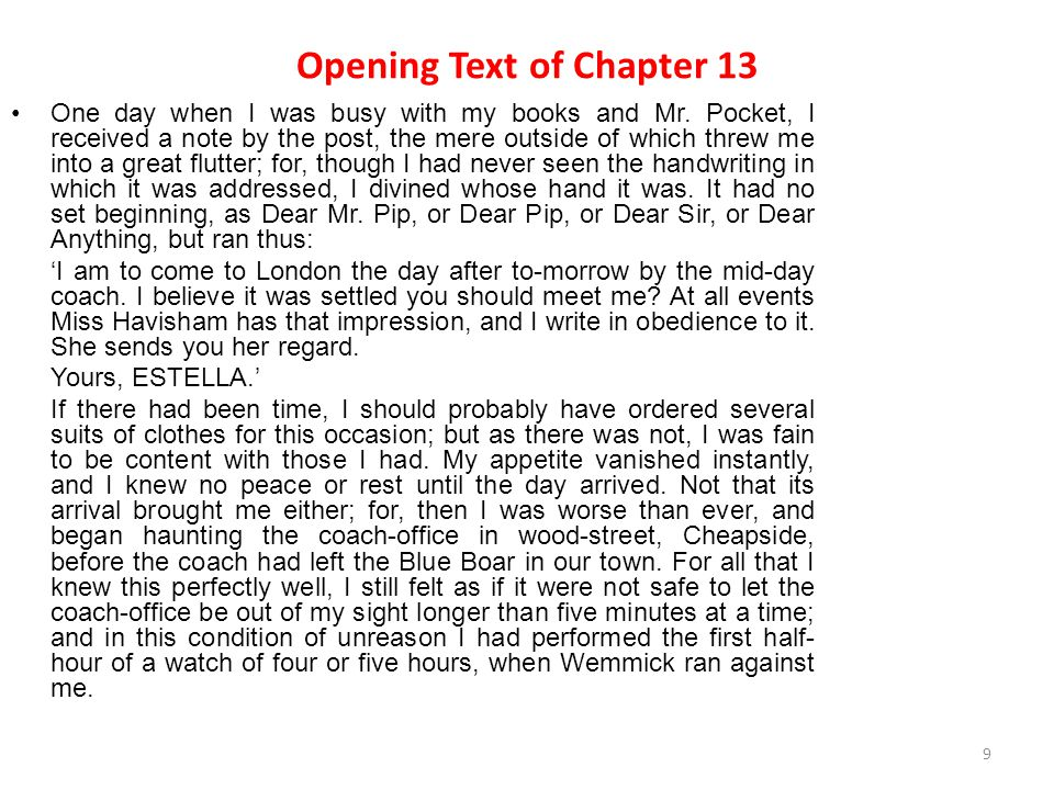 Opening Text of Chapter 13