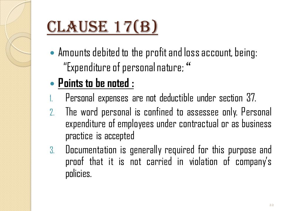Clause 17(b) Amounts debited to the profit and loss account, being: