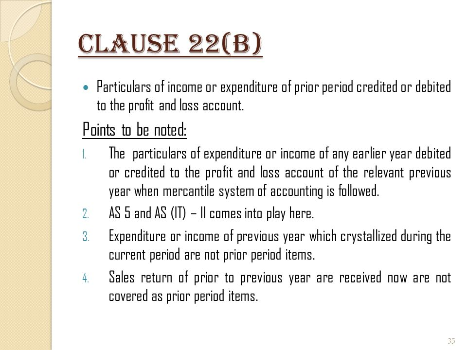 Clause 22(B) Points to be noted:
