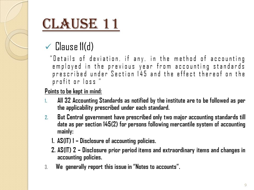 Clause 11 Clause 11(d)