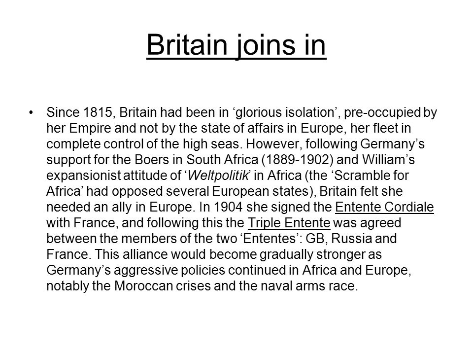 Britain joins in