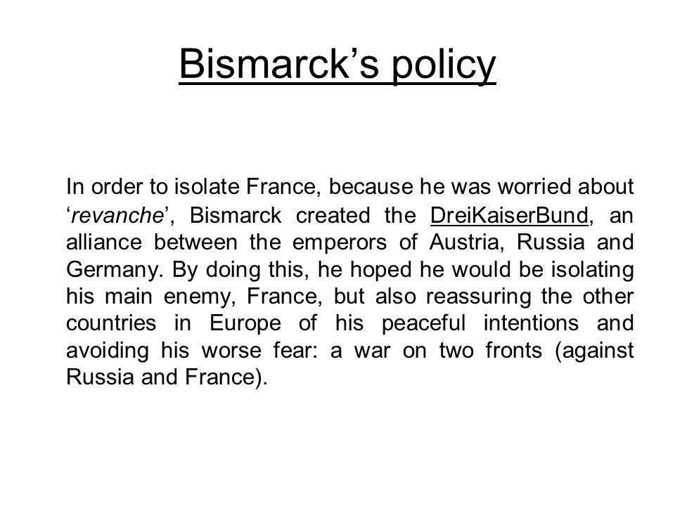 Bismarck's policy