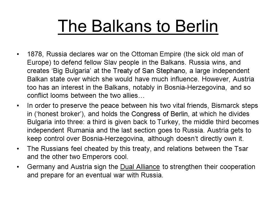 The Balkans to Berlin