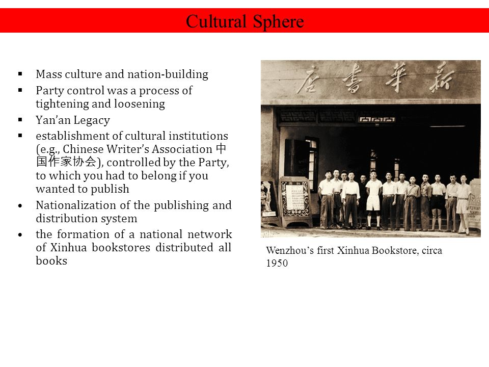 Cultural Sphere Mass culture and nation-building
