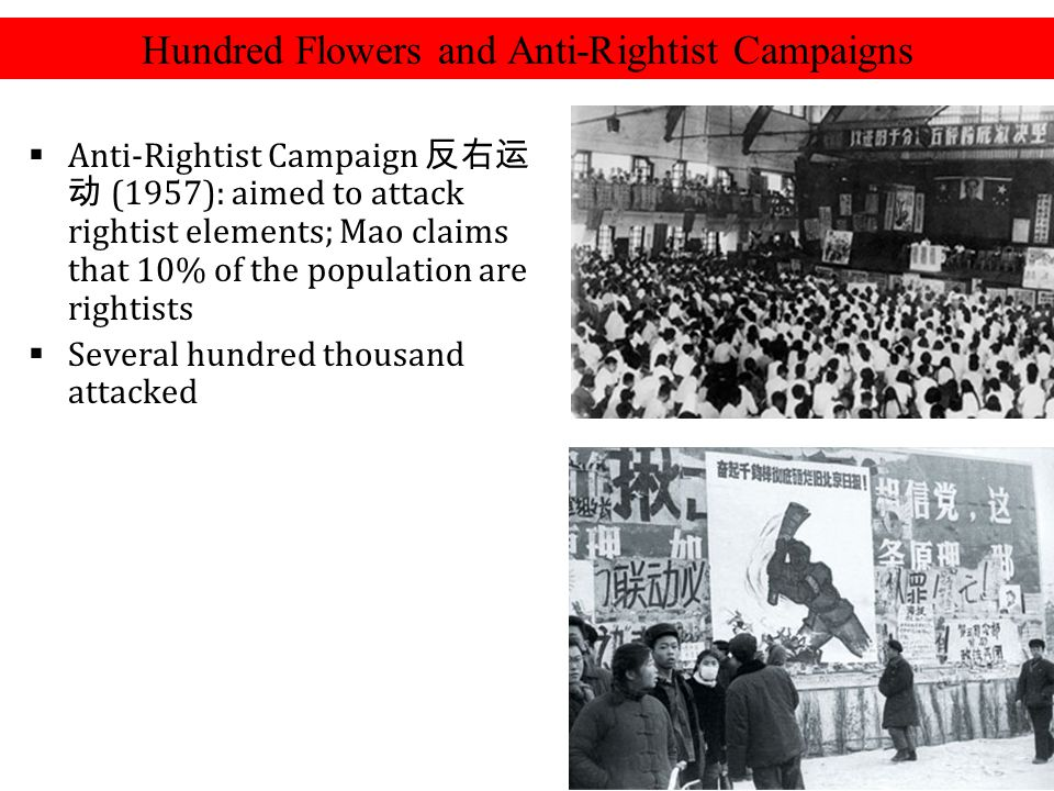 Hundred Flowers and Anti-Rightist Campaigns