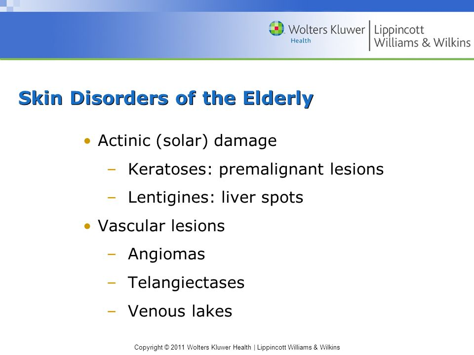 Skin Disorders of the Elderly