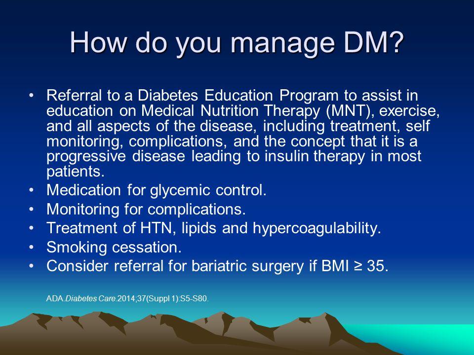 How do you manage DM
