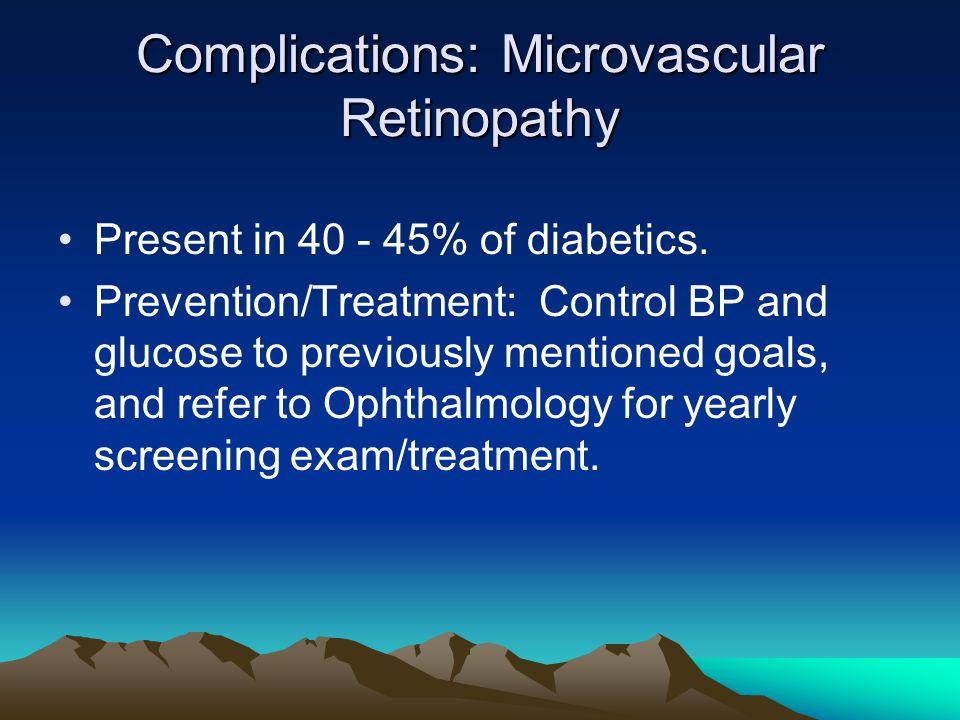 Complications: Microvascular Retinopathy