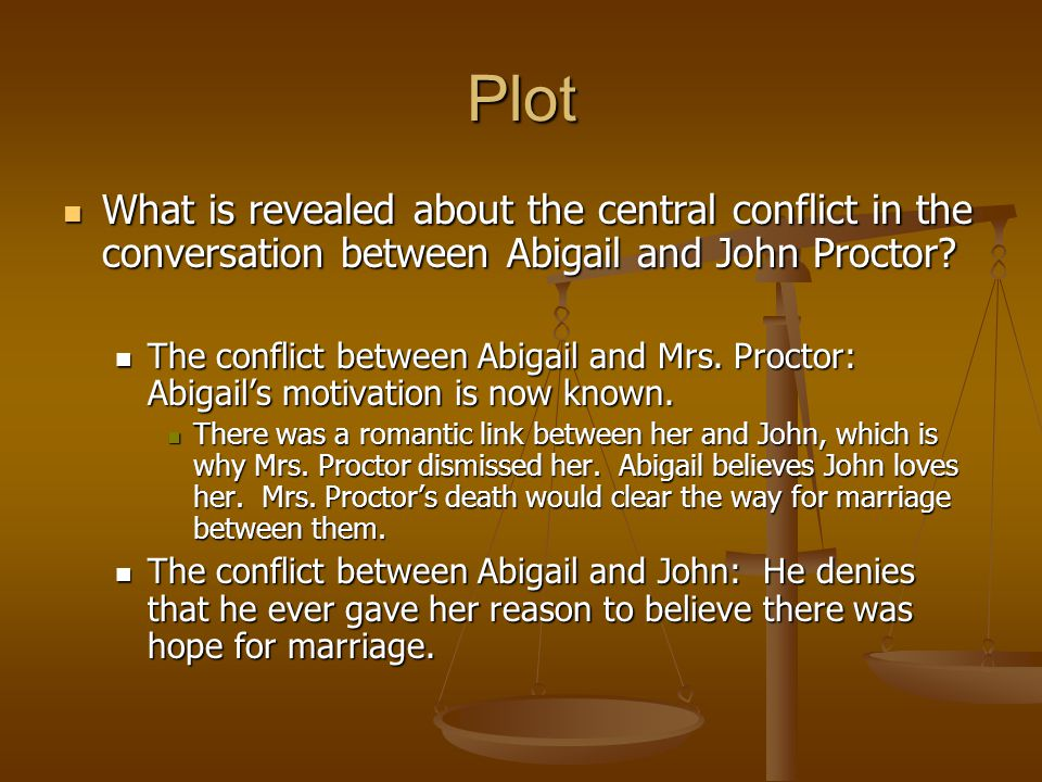 What is the relationship between Abigail and John Proctor in The Crucible by Arthur Miller?