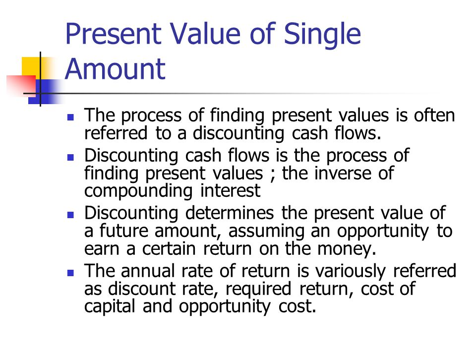 Present Value of Single Amount