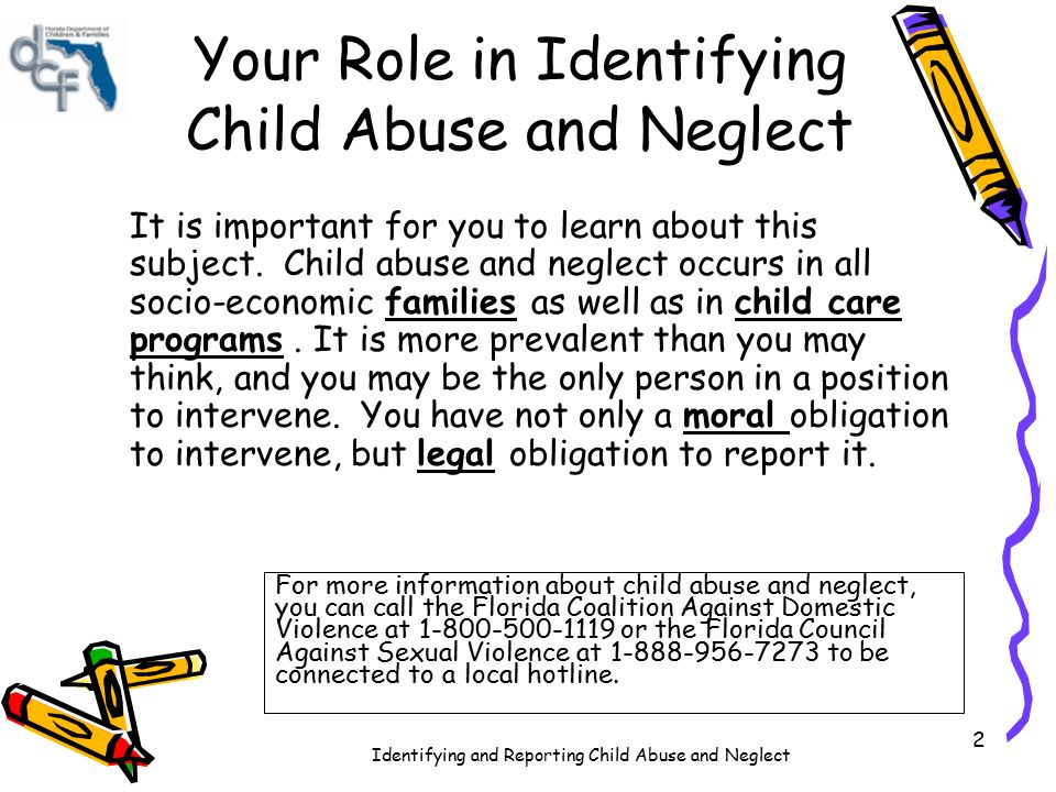 Your Role in Identifying Child Abuse and Neglect