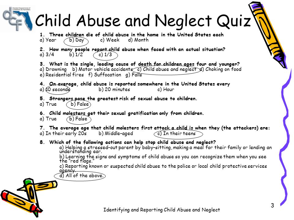 Child Abuse and Neglect Quiz