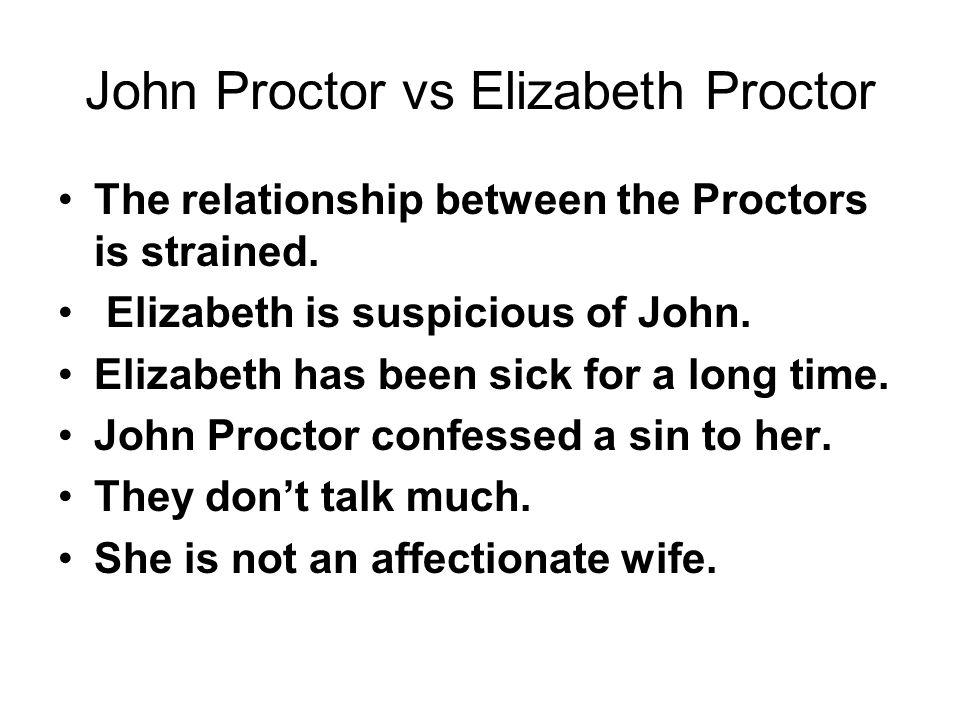 John Proctor vs Elizabeth Proctor