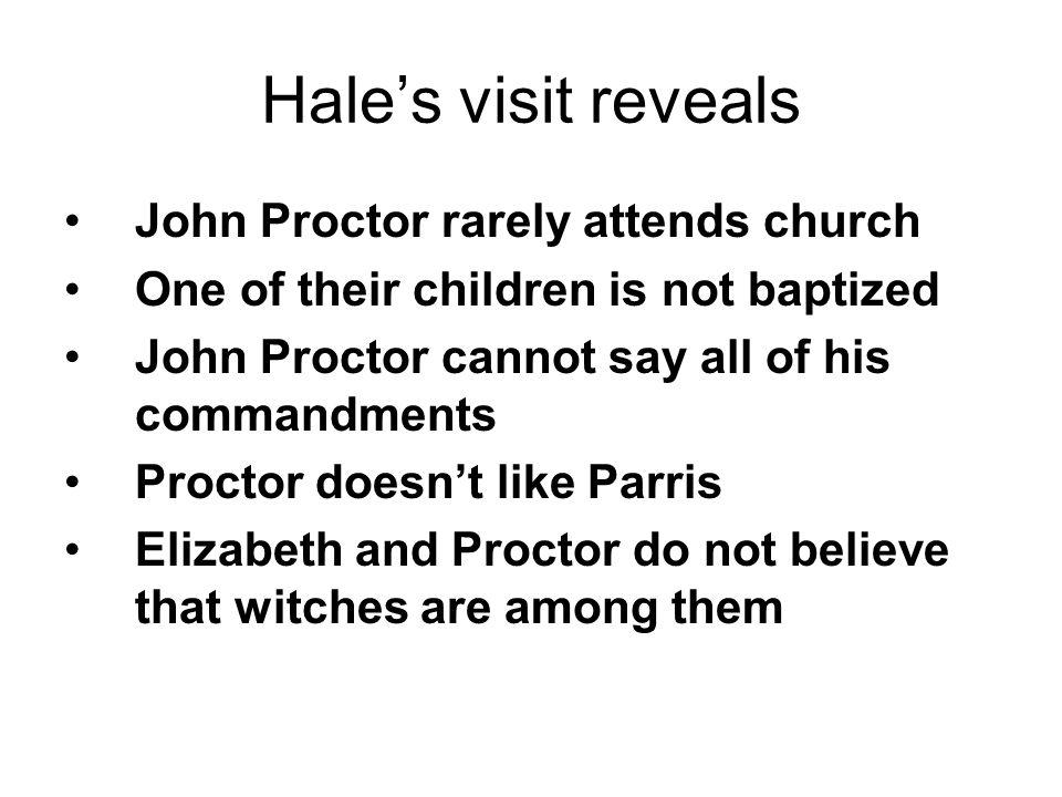 Hale's visit reveals John Proctor rarely attends church