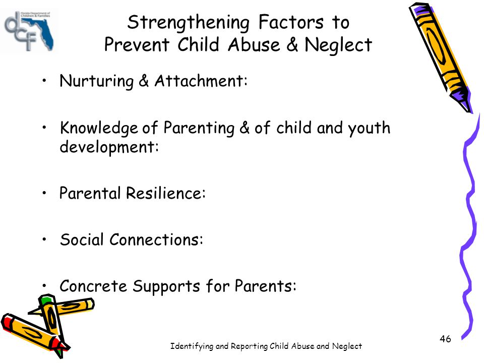 Strengthening Factors to Prevent Child Abuse & Neglect