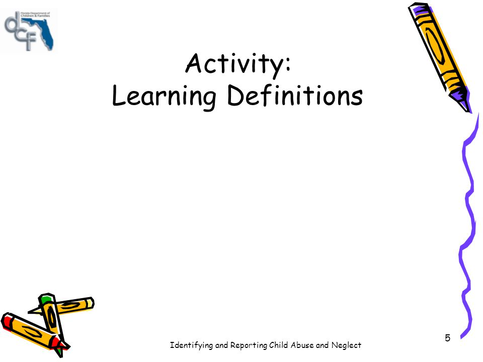 Activity: Learning Definitions