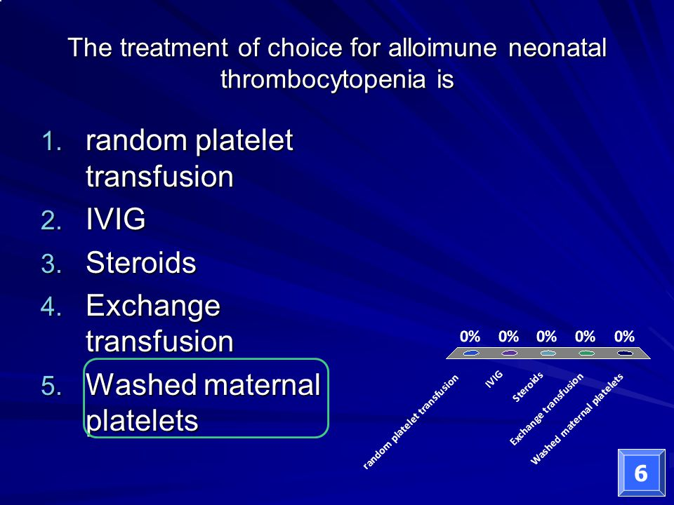 The treatment of choice for alloimune neonatal thrombocytopenia is