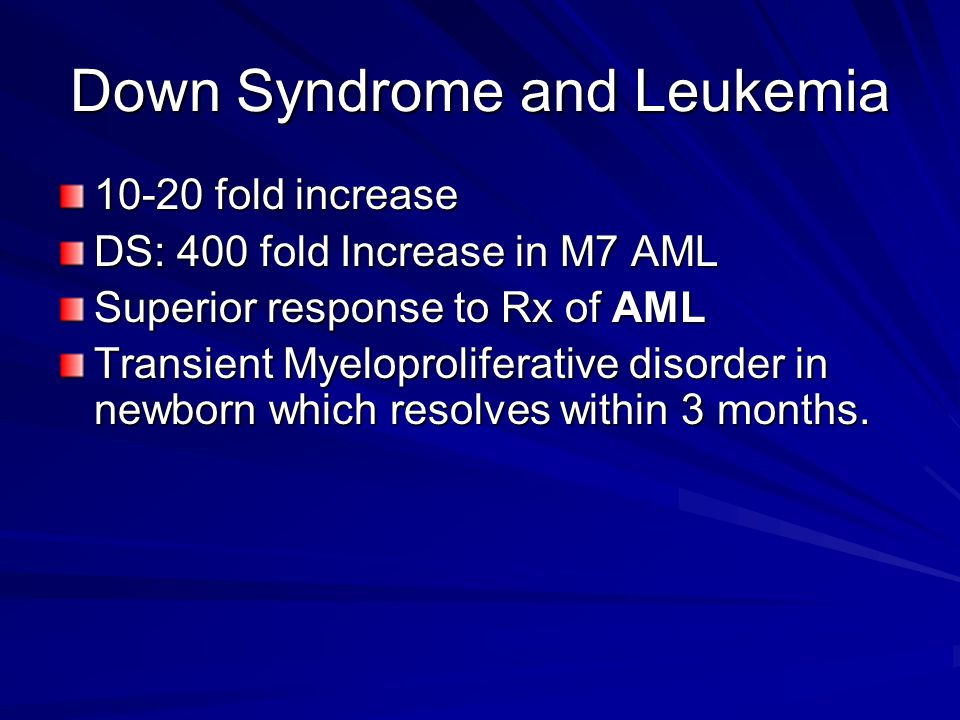 Down Syndrome and Leukemia