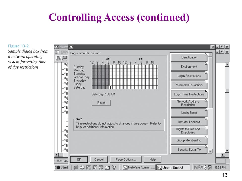 Controlling Access (continued)