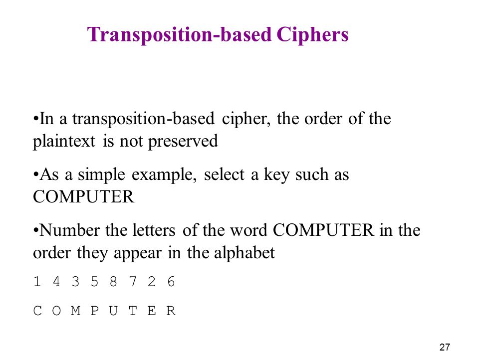 Transposition-based Ciphers