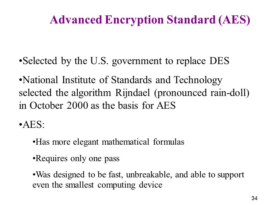 Advanced Encryption Standard (AES)