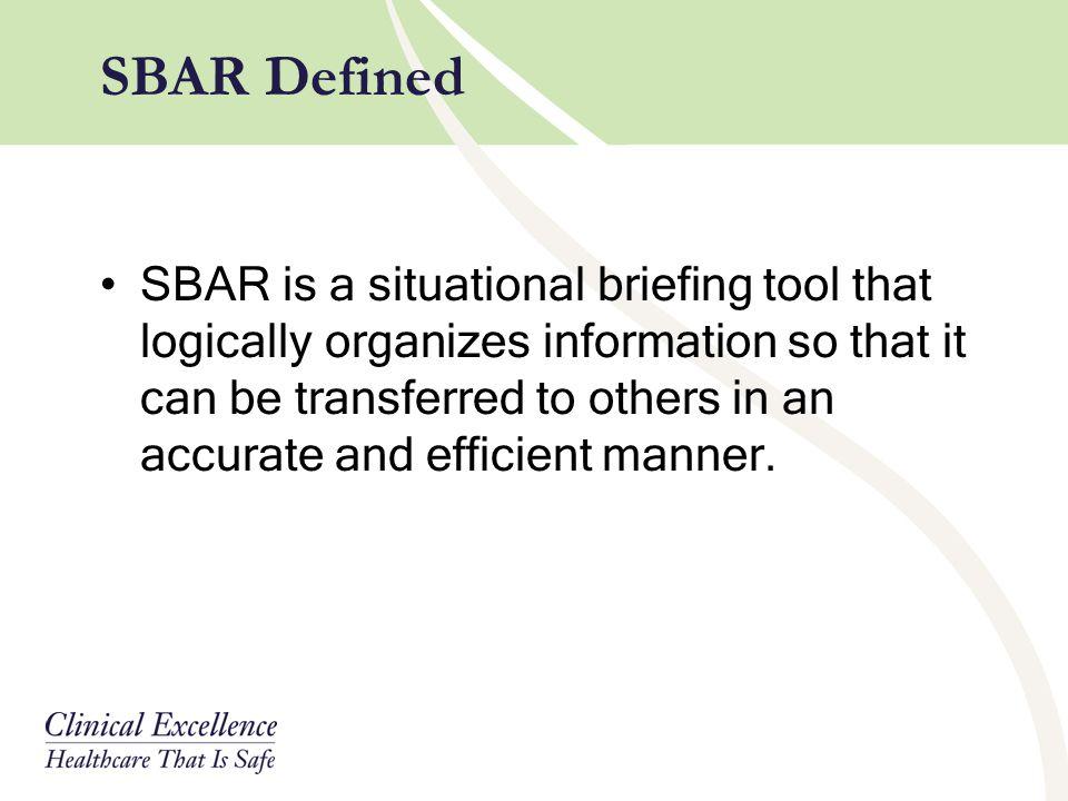 SBAR Defined