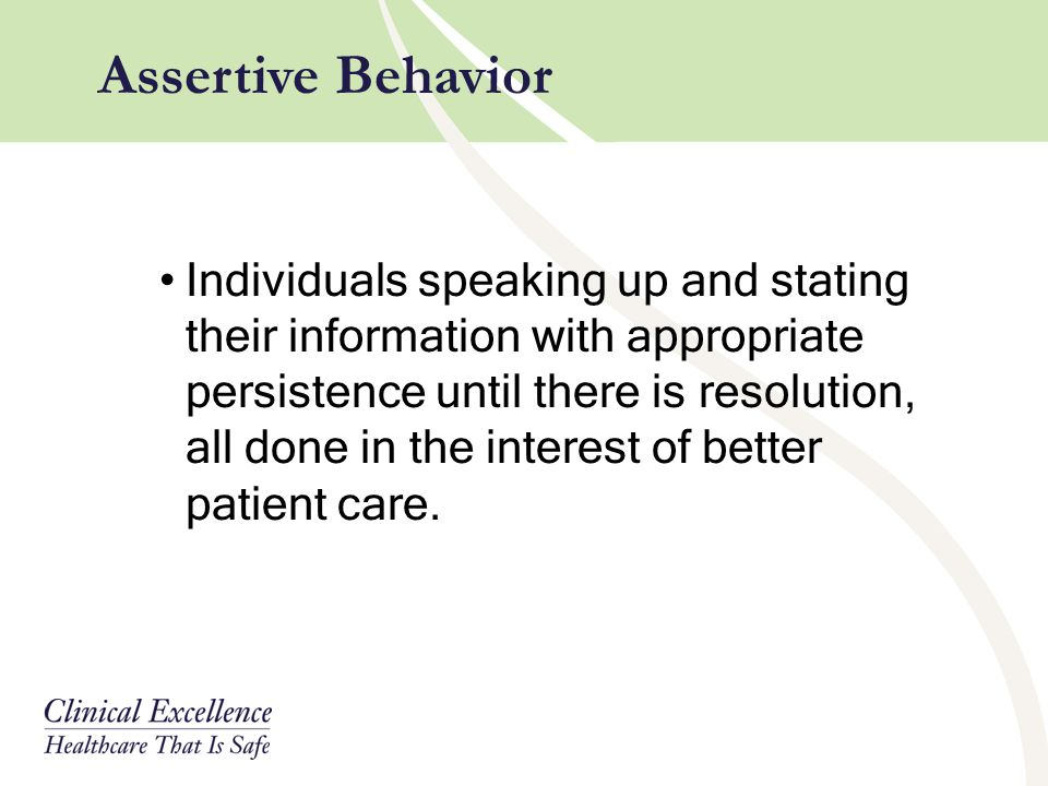 Assertive Behavior