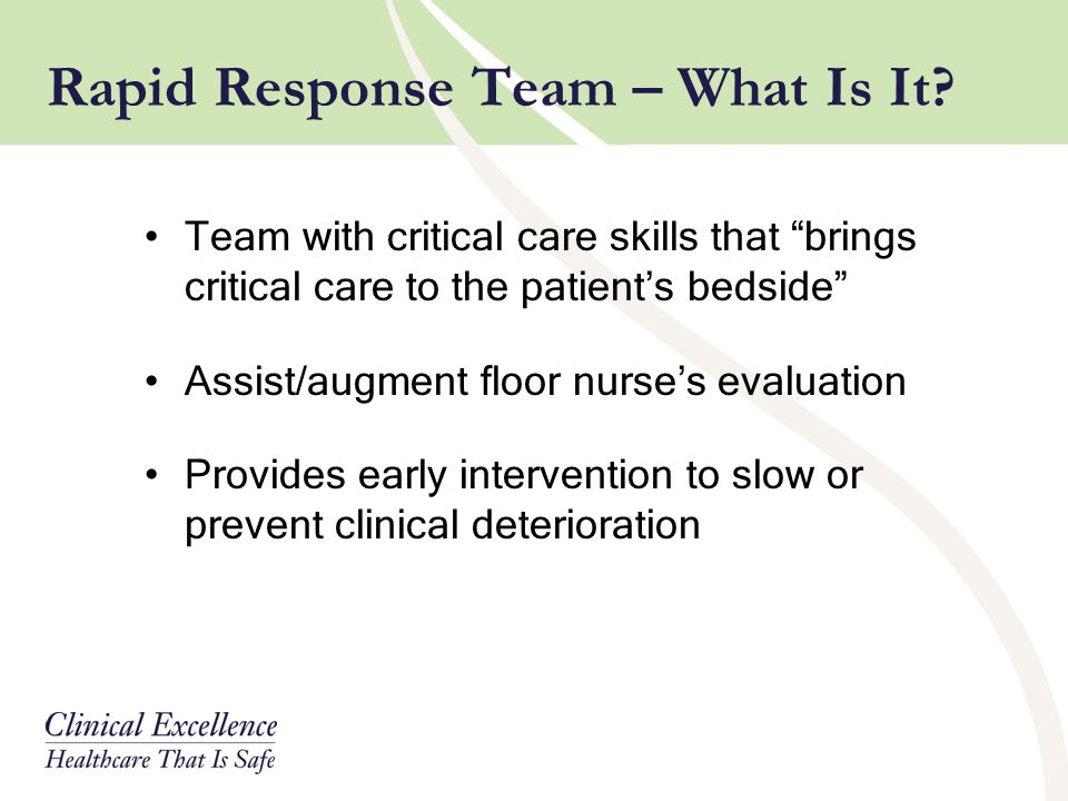 Rapid Response Team – What Is It