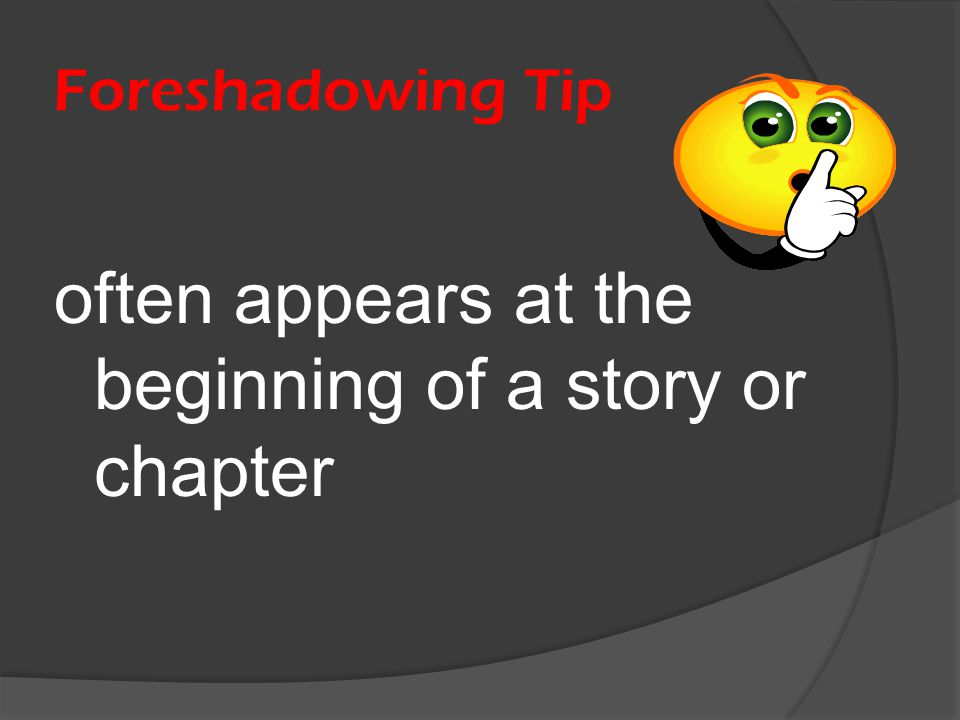 often appears at the beginning of a story or chapter