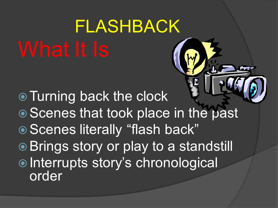 What It Is FLASHBACK Turning back the clock
