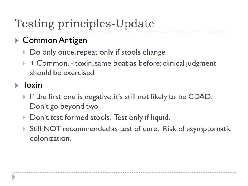 Testing principles-Update