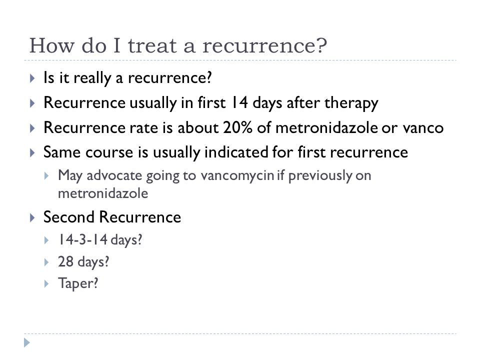 How do I treat a recurrence