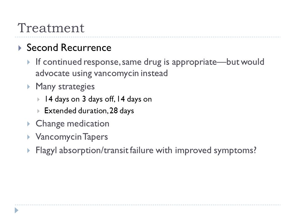 Treatment Second Recurrence