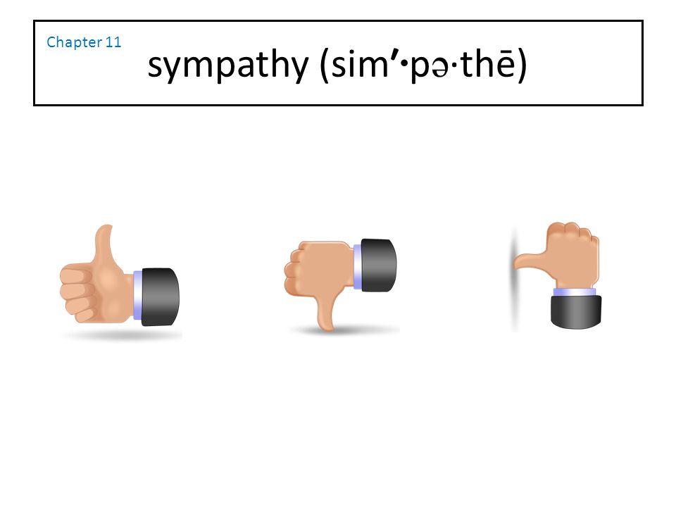 sympathy (sim′·pə·thē)