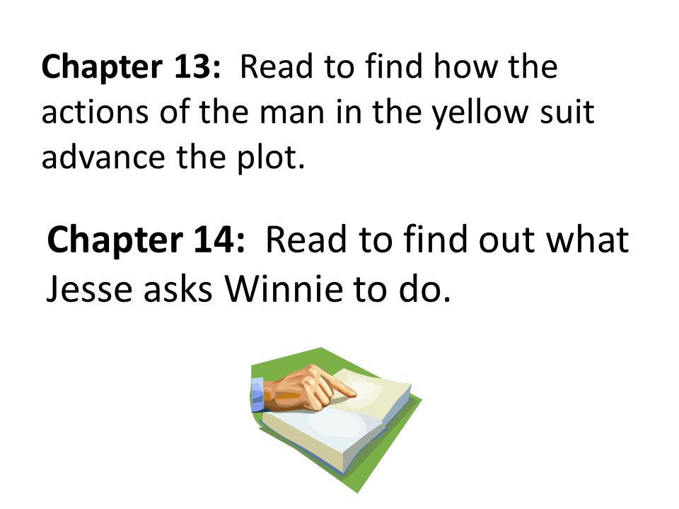 Chapter 14: Read to find out what Jesse asks Winnie to do.
