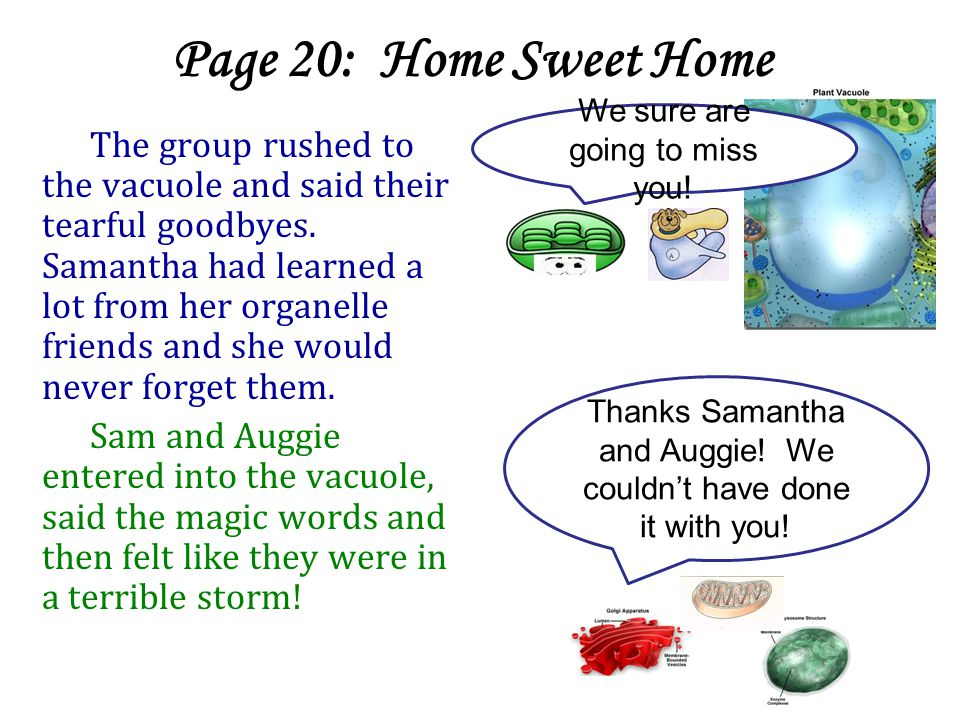 Page 20: Home Sweet Home We sure are going to miss you!