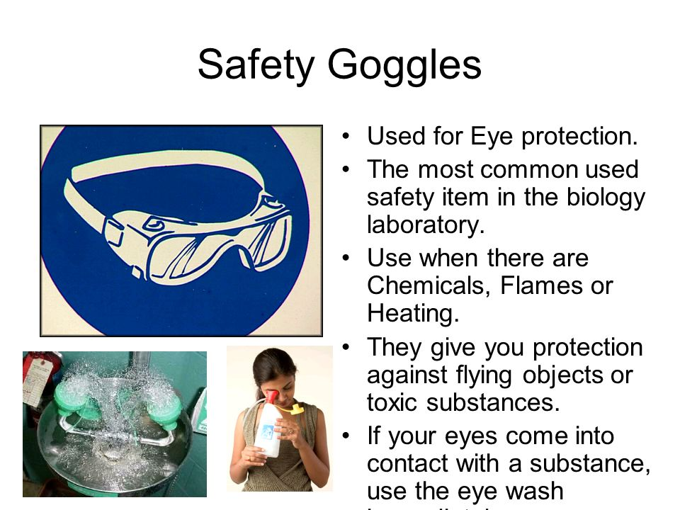 Safety Goggles Used for Eye protection.