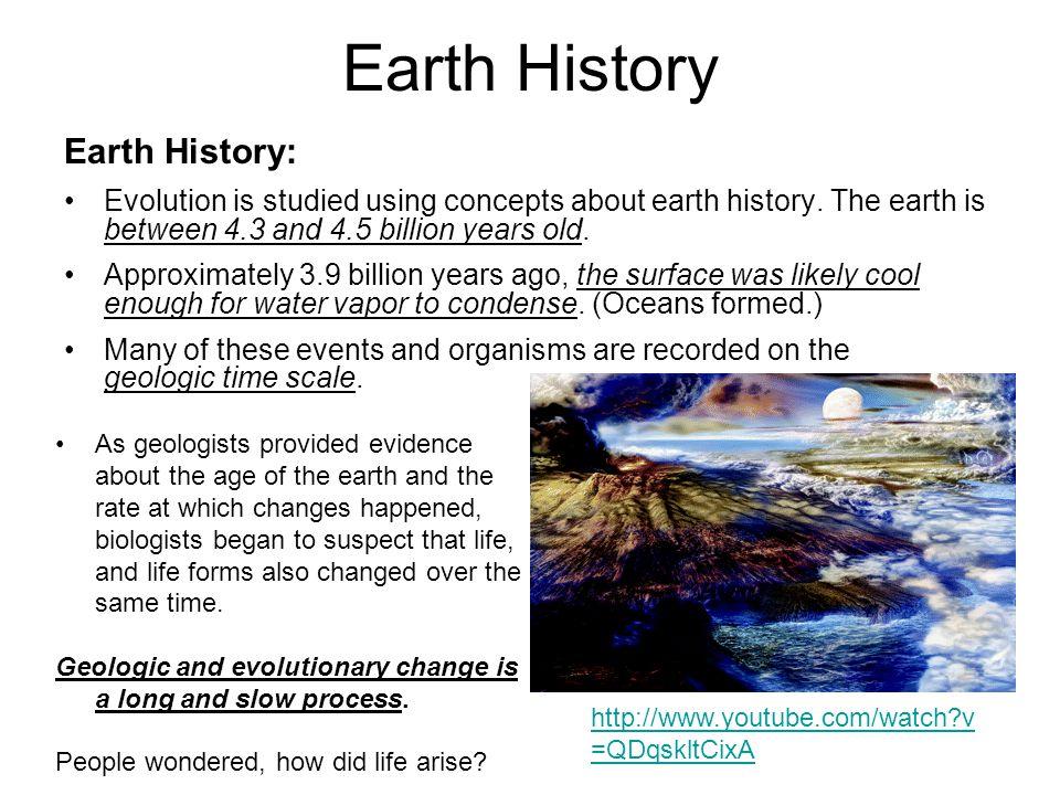 Earth History Earth History: