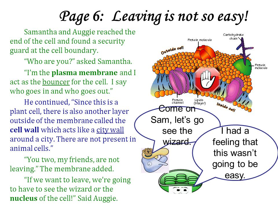 Page 6: Leaving is not so easy!