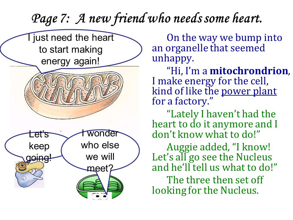 Page 7: A new friend who needs some heart.